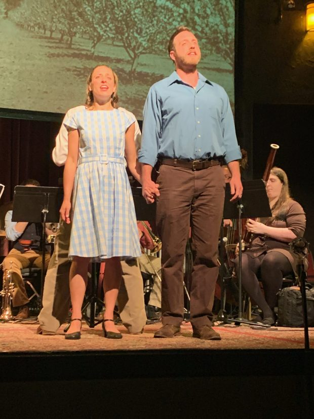 Lisa Neher and Nicholas Meyer in OTO's 'This Land Sings.' Photo by Michael Daugherty.