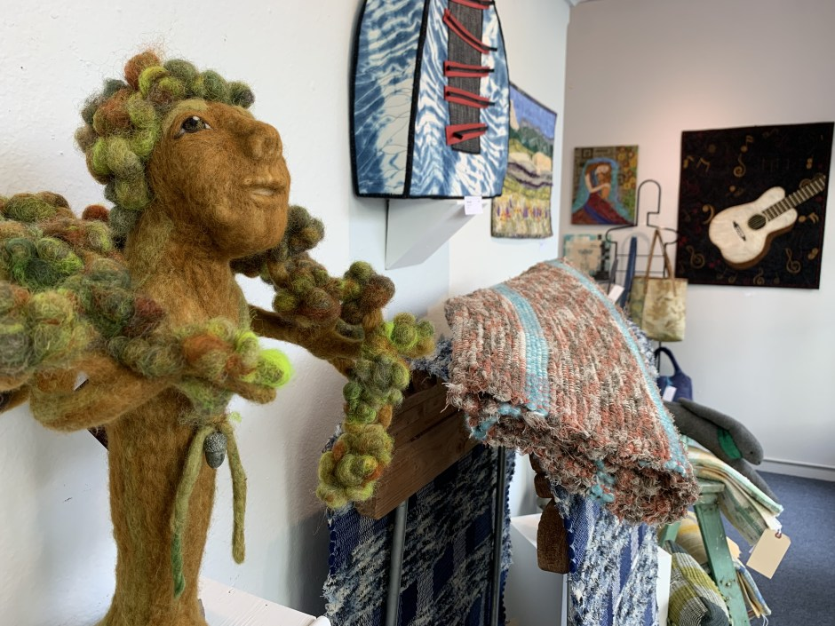 """Gifts from the Grandmothers: Wisdom,"" a felted wool piece by Cheryl Berglund, is part of  Currents Gallery's 10th annual fiber show in downtown McMinnville. Photo by: David Bates"