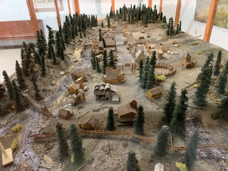 "The Baker Heritage Museum's ""Paint Your Wagon"" exhibit includes a scale-model replica of tthe fictional gold-mining town No Name City. Photo by: David Bates"
