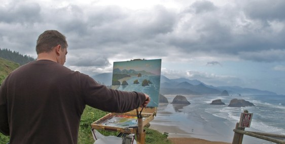 Michael Orwick will be one of the teachers of a five-day plein air workshop in Cannon Beach leading up to the Earth & Ocean Arts Festival.