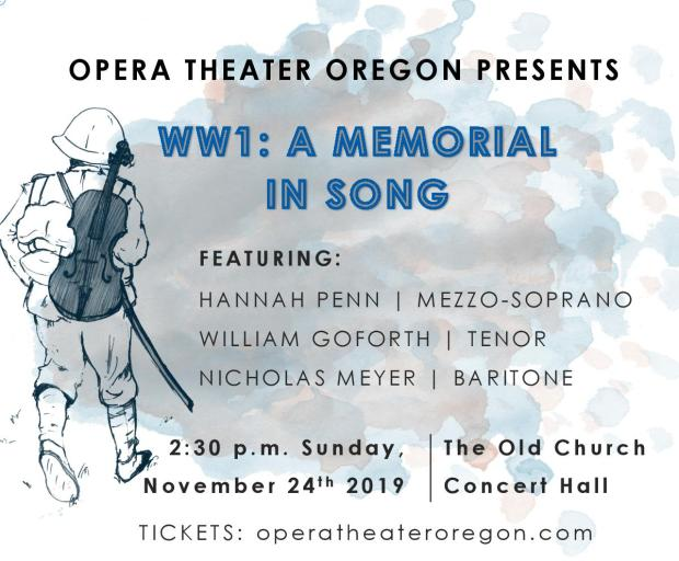 Opera Theater Oregon WWI: A Memorial in Song