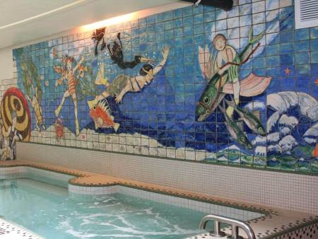 Lincoln City's roster of public art includes the Community Center's swimming tile mural by Ted and Judith Schlicting. The city is seeking proposals from artists to craft a piece for the new Cultural Plaza.