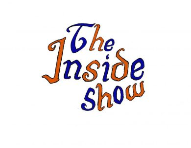 "Logo reading ""The Inside Show"" in blue and orange hand-drawn letters."