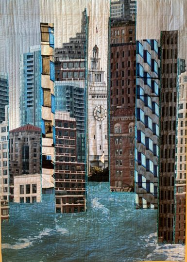 """Whither the Waterfront,"" by Cathy Miranker, 57 by 41 inches"