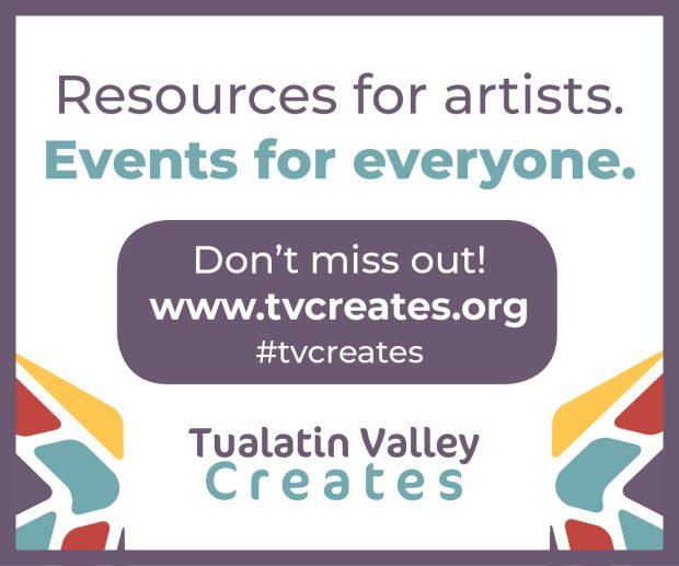 Tualatin Valley Creates resources for artists washington county