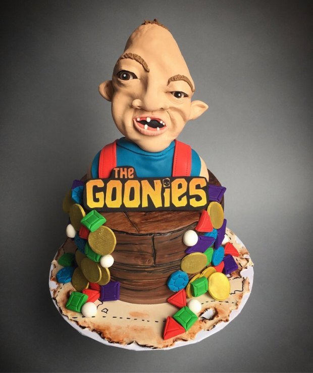 Participants in a Goonies Day baking contest will riff on this Sloth cake created by the Hive Bakery in Flower Mound, Texas.