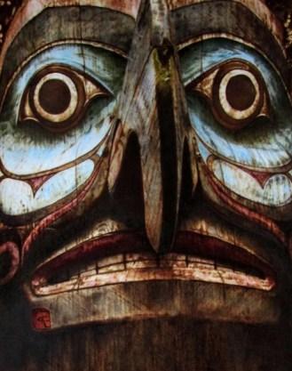 Eagle totem by Cynthia Longhat-Adams