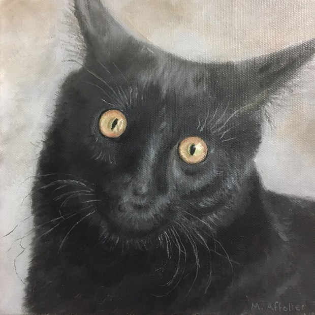 """Marilyn Affolter's work includes both paintings and photography. An exhibit through July 5 in her McMinnville gallery features animal portraits, such as """"Ash."""""""