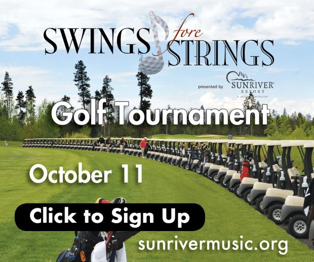 Sunriver Music Festival golf tournament 2020 swing fore strings October 11, 2020