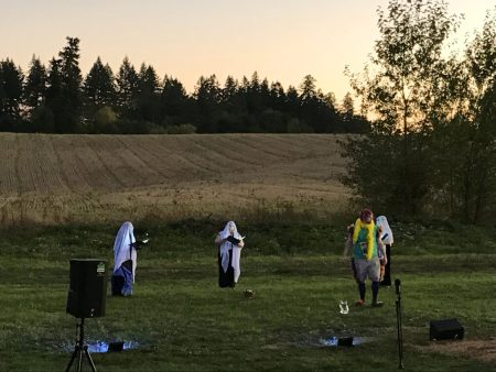 'The Magic Flute' outdoors in St. Paul, OR, September 2020. Photo by Catherine Oldham Bell.