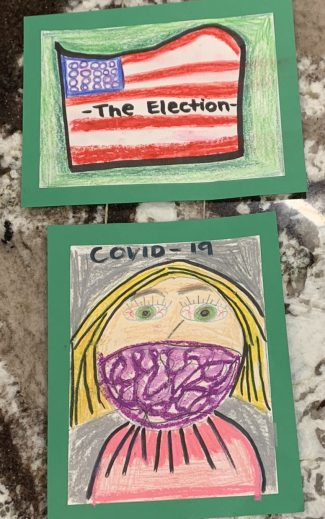 After a presentation on commemorating the year's most important events, Evie S. settled on the election and the pandemic.
