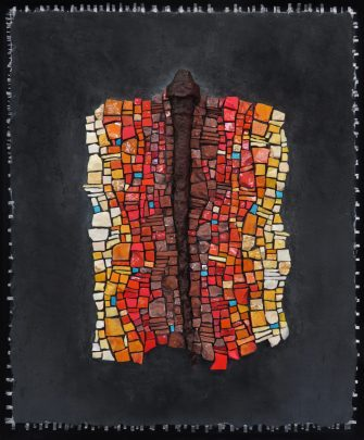 """Activate the Midline"" by Lynn Adamo is among mosaic work featured in a show in the Lincoln City Cultural Center. Adamo will walk viewers through a virtual tour of the exhibit."
