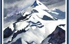 """""""Mountain NVA,"""" a recent framed watercolor, was among the art destroyed in Nancy Chase's studio."""
