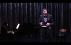 Composer-singer Damien Geter performing from the Hampton Opera Center in 2020.