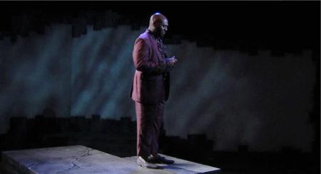 Baritone Michael Parham performing 'Two Black Churches.' Photo courtesy of Portland Opera.
