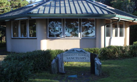 Newport Fishermen's Memorial Sanctuary in Yaquina Bay State Park. Photo by Lori Tobias