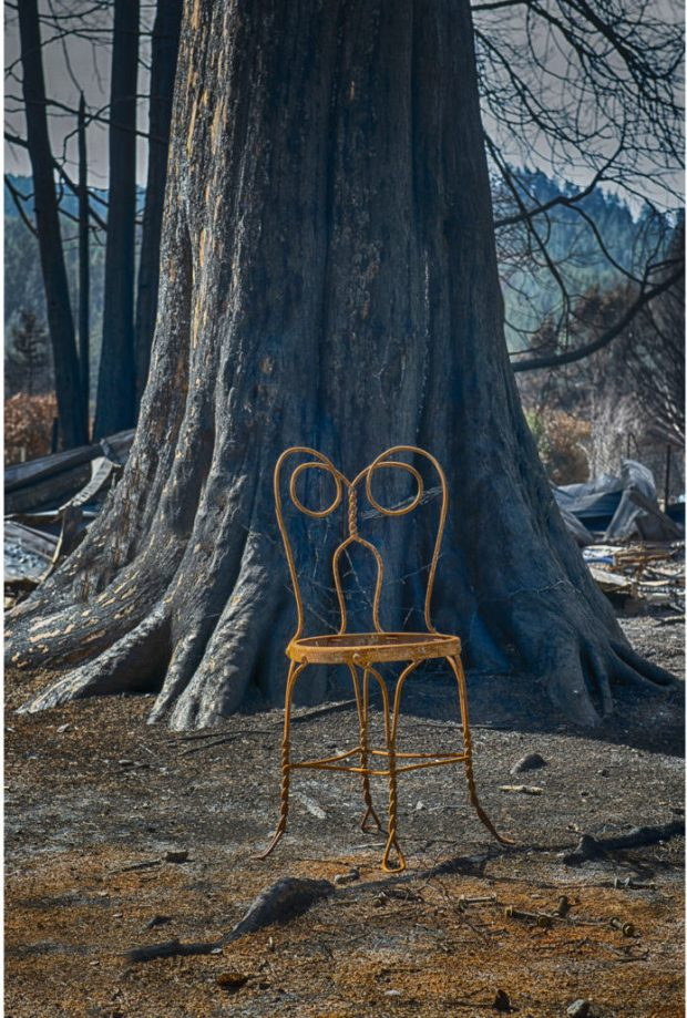 """""""Chair. Otis, Oregon. September, 2020"""" is part of photographer Bruce MacGregor's """"Aftermath Project,"""" documenting 2020's devastating wildfires."""