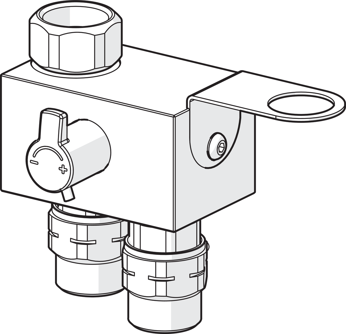 hight resolution of  mixing valve
