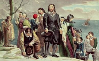 Pilgrims arrivea at Plymouth