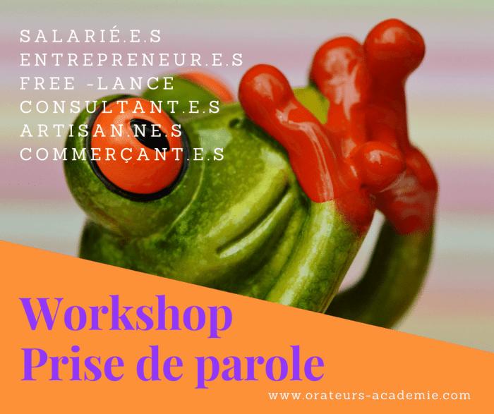 Workshop - prise de parole en public - Orateurs Académie