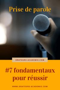 7 fondamentaux pour réussir ses prises de parole