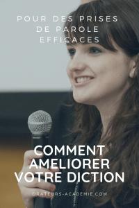 Affiche de comment améliorer votre diction pour une prise de parole efficcace