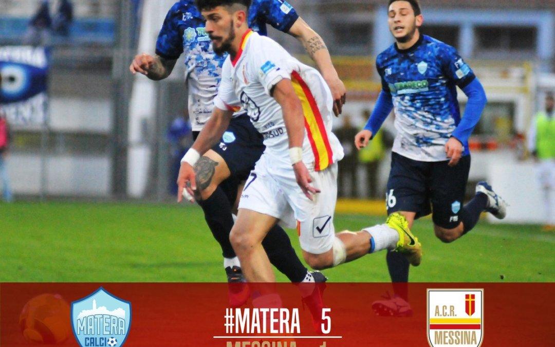 Calcio-LegaPro. Pesante sconfitta per il Messina a Matera