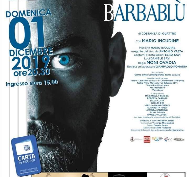 """Barcellona PG. """"Barbablù"""" con Mario Incudine e Antonio Vasta al Teatro dell'Oratorio Salesiano"""