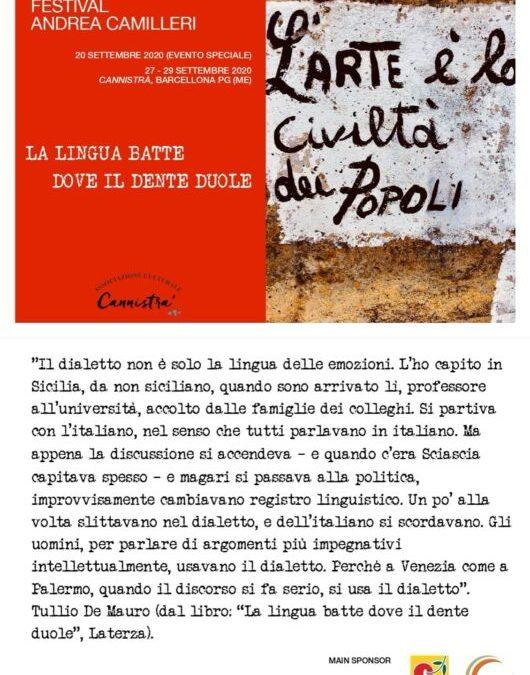 Barcellona PG. Al via seconda giornata del Festival 'A. Camilleri' a Cannistrà con 'Storie di buone pratiche'