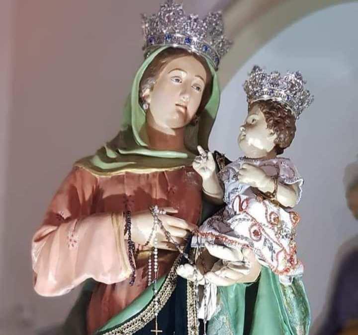 Terme Vigliatore. La Festa di Maria SS. delle Grazie 2020. Le Celebrazioni religiose all'interno di una tenda e l'artistica Infiorata di Umberto Cipriano
