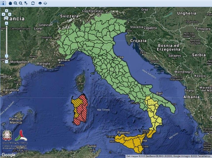 Meteo. 'Allerta arancione', weekend di maltempo in Sicilia
