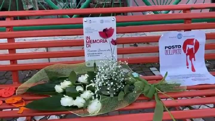 Soroptimist Day. Inaugurata a Rodì Milici la panchina arancione dedicata alla memoria di Lorena Quaranta