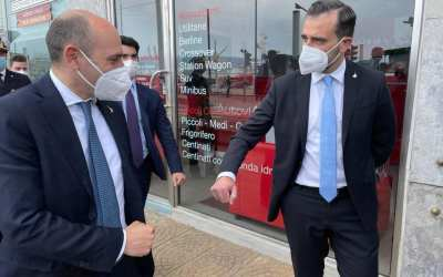 """Visita a Messina Vice-Ministro Infrastrutture Morelli, Catalfamo: """"Si convinto Lega a Ponte"""""""