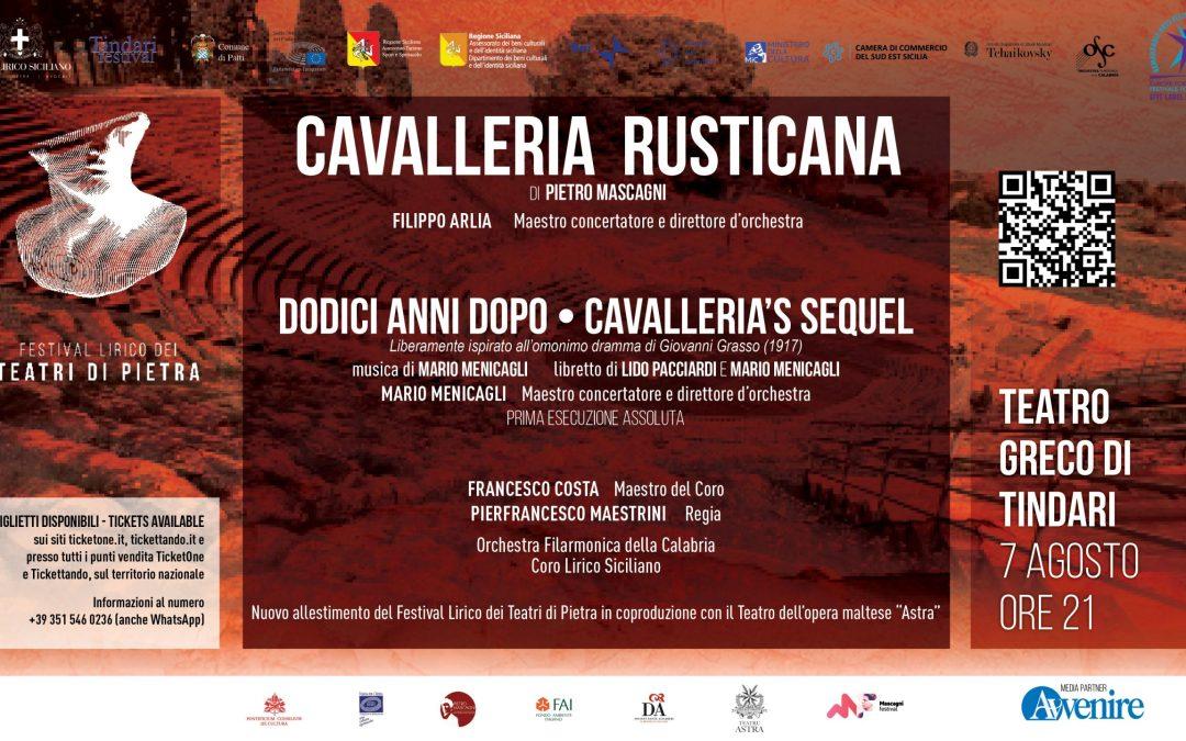 """""""Cavalleria Rusticana"""" inaugura il 65mo Tindari Festival il 7 Agosto per il Festival Lirico dei Teatri di Pietra"""