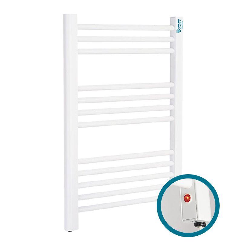farho nova eco small electric heated towel rail white 250 watt 500 x 700 mm
