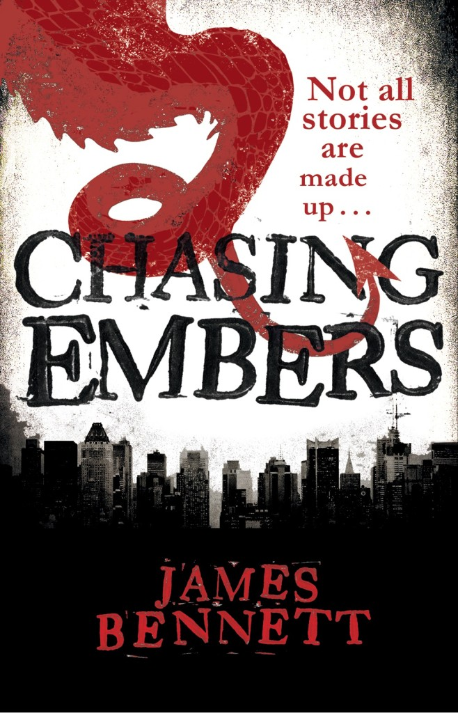 Chasing Embers by James Bennett, a contemporary fantasy novel perfect for fans of Ben Aaronovitch