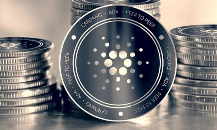 Picture of Cardano coins stacked together
