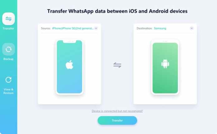 Transfer WhatsApp Messages Android to iPhone Tenorshare WhatsApp Transfer
