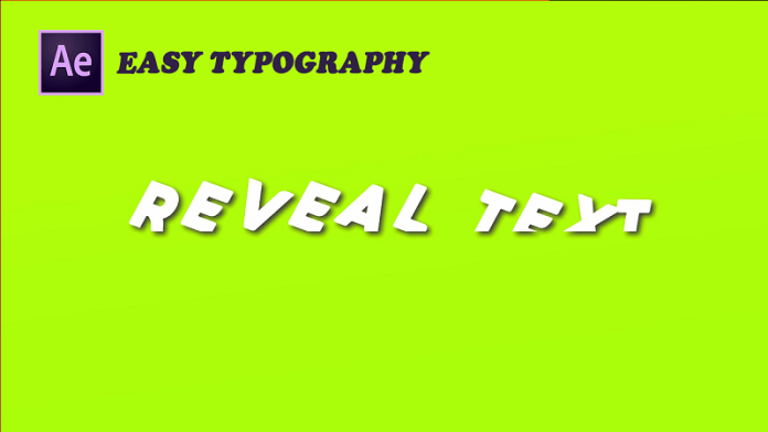 Reveal Text Animation After Effects - Easy Typography After Effects Tutorial