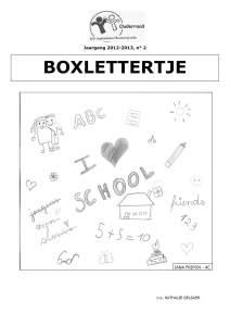Boxlettertje - Pasen 2013