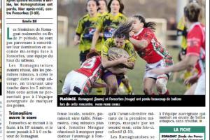 CR pages sport après la réception de Sassenage