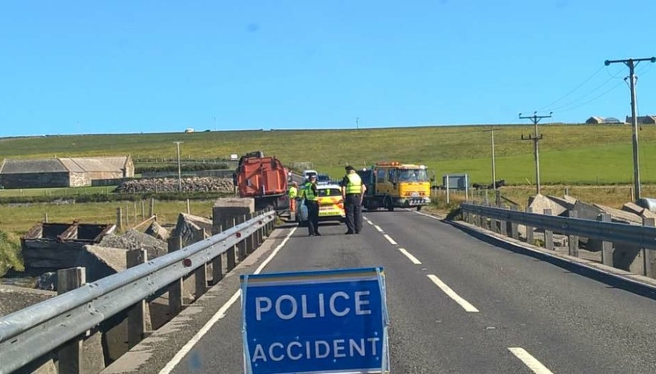Emergency services attending road accident - The Orcadian Online