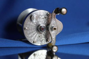 """X-pert"" Reel (Engraved Tear Drop Design) No.4151(?) by Bronson"