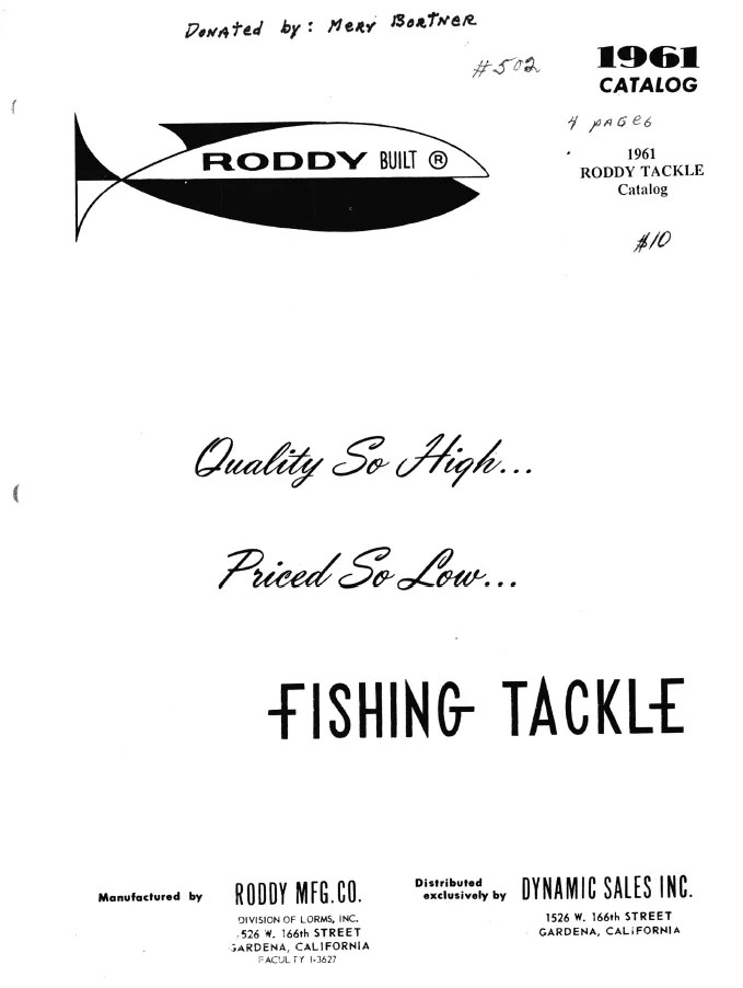 Roddy Mfg. Co.