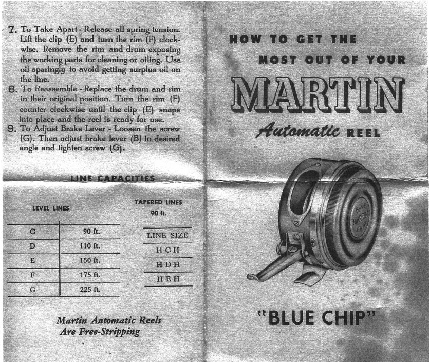 Martin (Automatic Fishing) Reel Co. - schematics