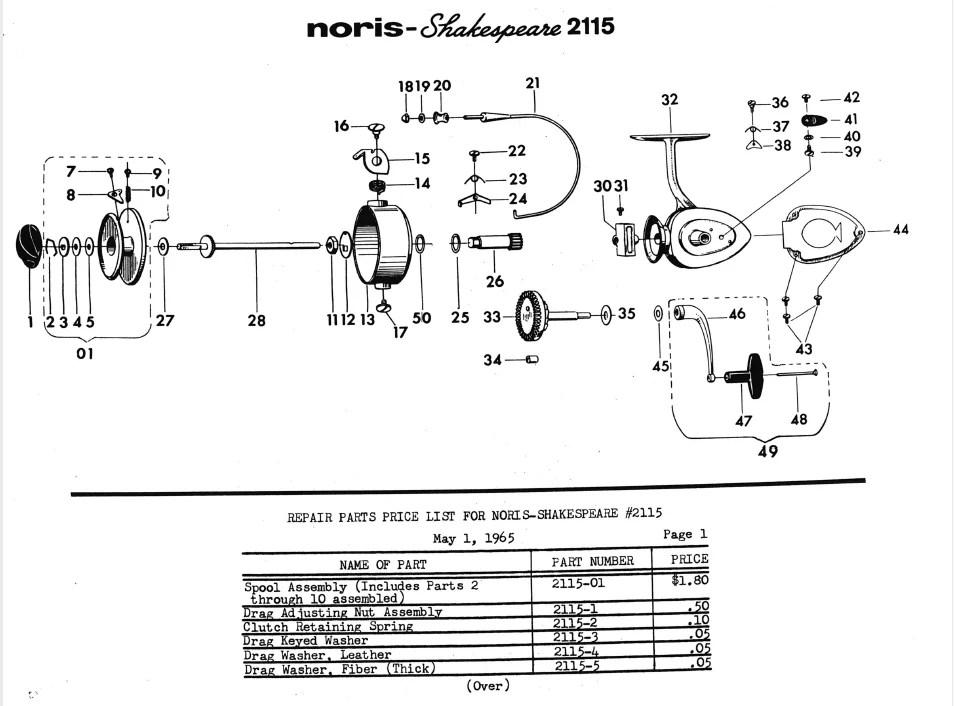 noris-Shakespeare 2115 spinning reel – schematics – ORCA on shimano parts schematics, engine schematics, electric schematics, daiwa parts schematics, wire schematics, abu garcia schematics, ambassadeur 6500 striper drag schematics, trailer schematics,