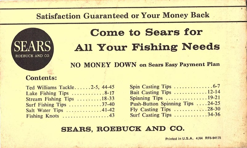 Sears, Roebuck and Co. reels - schematics