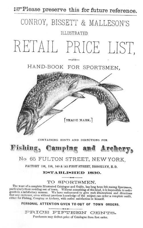 1881 Conroy, Bissett & Malleson Catalog Cover