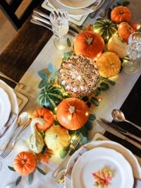 Harvest Table Settings & Tutorial Corn Husk U0026 Burlap ...