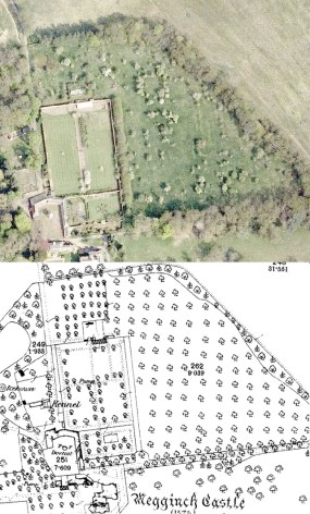 Megginch castle aerial_OS1stEdn